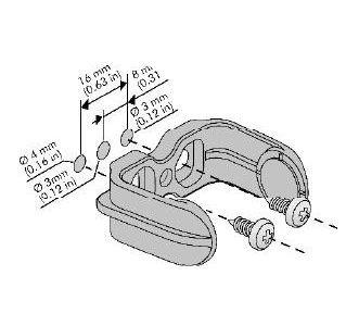 Czujnik TLS 500 uchwyt rysunek
